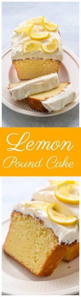 Lemon Pound Cake with Lemon Cream Cheese Frosting