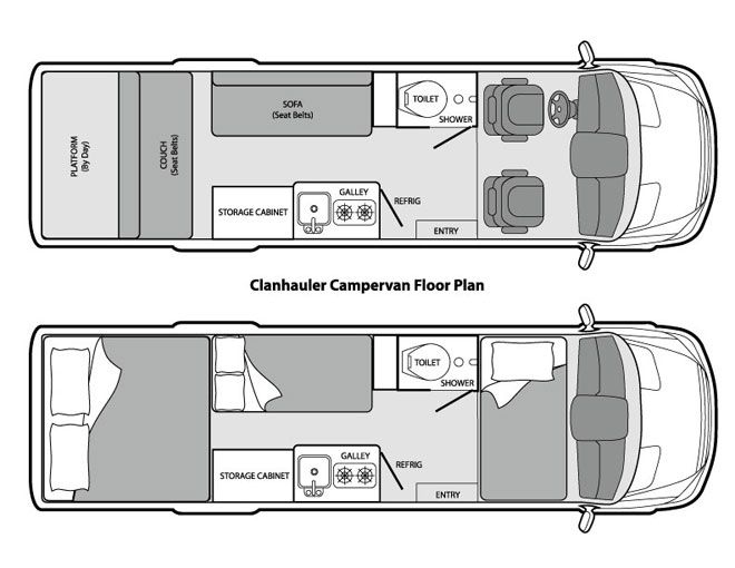The Clanhauler Campervan Is A Converted Long Wheelbase Dodge Sprinter This Diesel Beauty Equipped With Three Beds That Will Sleep Two Adults An