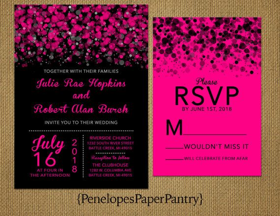 Pink And Black Wedding Invitations: Best 25+ Pink Black Weddings Ideas On Pinterest