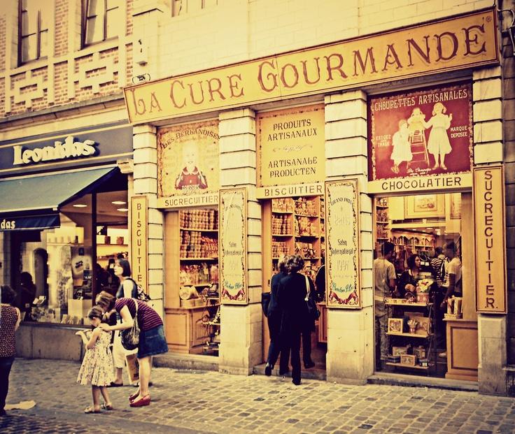 La Cure Gourmande + Leonidas chocolate shops in Brussels, Belgium