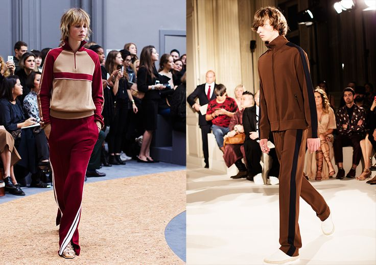 Left: Chloe Womens Collection SS16  Right: Valentino Mens Collection SS16