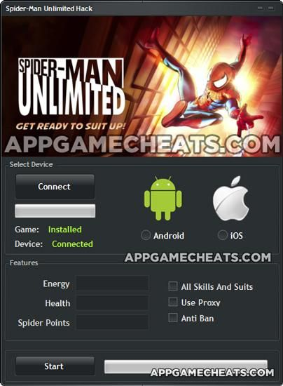 Spider-Man Unlimited Android Cheat 2016 tool download. With updated Spider-Man Unlimited Android you will have just fun. Try Spider-Man Unlimited Android tool. Spider-Man Unlimited Android working with last update.