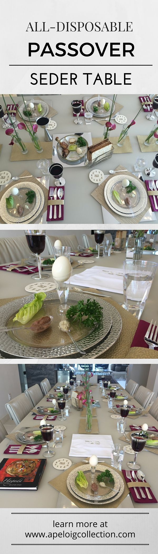 Use disposable items to create an elegant Passover Table Setting