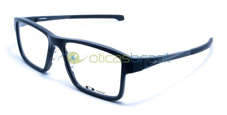 O modelo Oakley Chamfer 2 é para quem gosta do estilo esportivo da marca e resolveu optar por um modelo mais retangular. Como todo óculos Oakley essa armação tem muita qualidade e fornece um visual despojado e casual.  http://www.oticasbrasil.com.br/oakley-chamfer-2-ox-8040-0354-oculos-de-grau