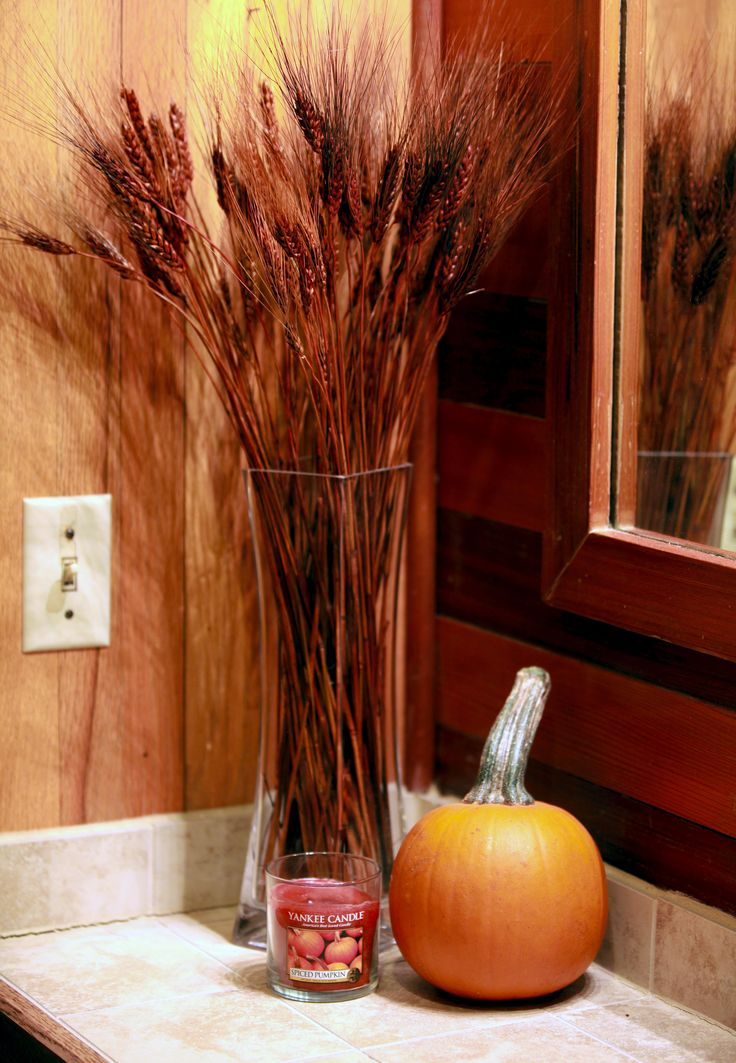 9 best fall bathroom decor images on pinterest bathroom for Fall bathroom sets