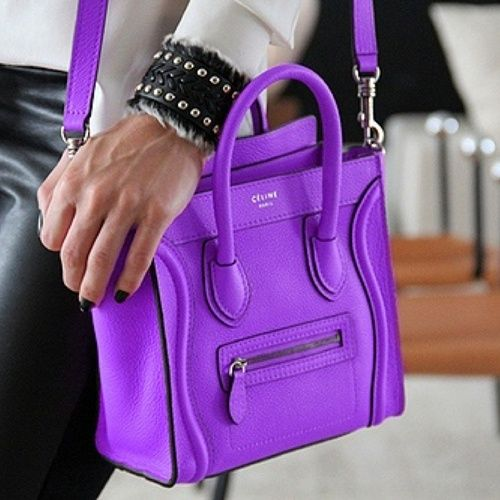 Purple mini Celine bag