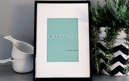 Blue Wire framed print   MON. Design Haus | COLLECTIONS