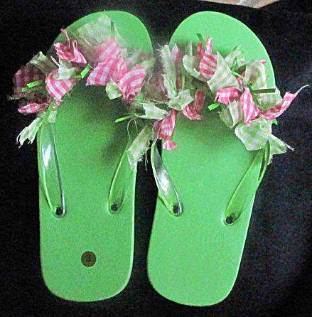 Decorate flip flops!