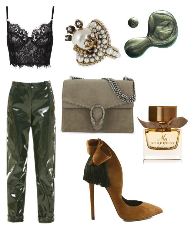 """Modern vintage"" by evanshram on Polyvore featuring beauty, Carven, Gucci, Illamasqua, Burberry, modern and vintage"