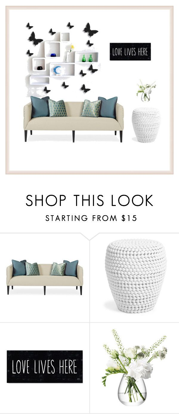 """""""beautifull butterfly"""" by zahrohusna on Polyvore featuring interior, interiors, interior design, home, home decor, interior decorating and LSA International"""