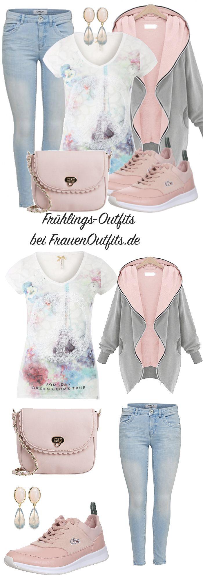 FrühlingsOutfits bei FrauenOutfits.de #Frauen #Mode #lässiger Look #sportliche…