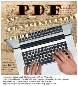 PDF as Transcription Tool