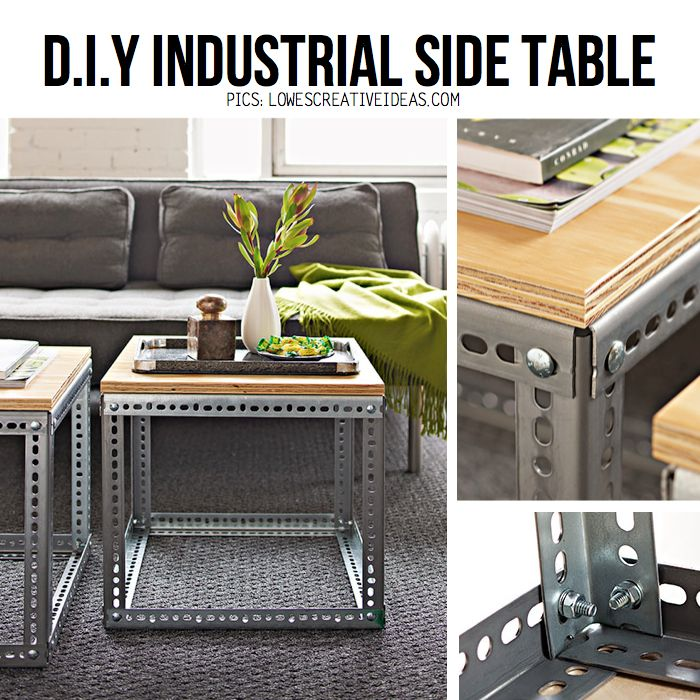 Diy Industrial Decor: Best 25+ Industrial Side Table Ideas On Pinterest