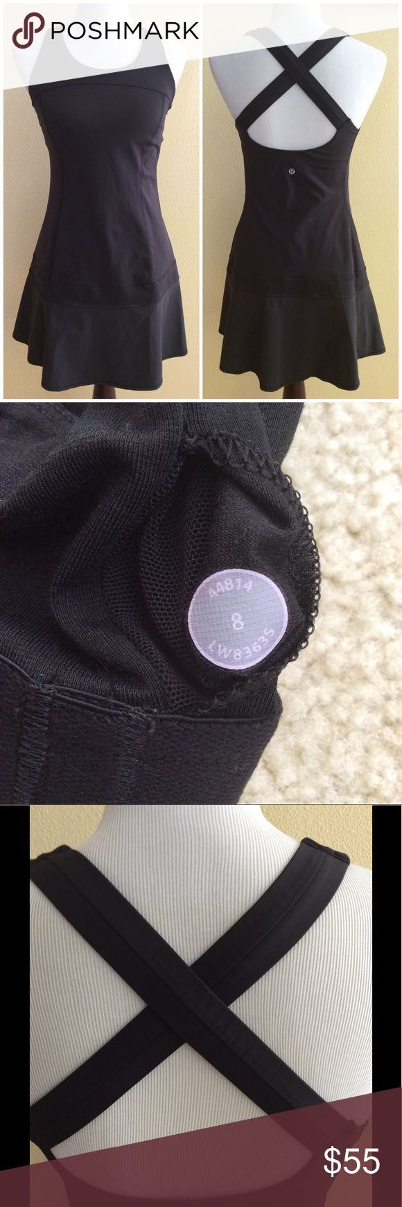 Lululemon Dress- Black- size 8 Great used condition, no holes stains rips. Very cute! Size dot shown.  055 lululemon athletica Dresses