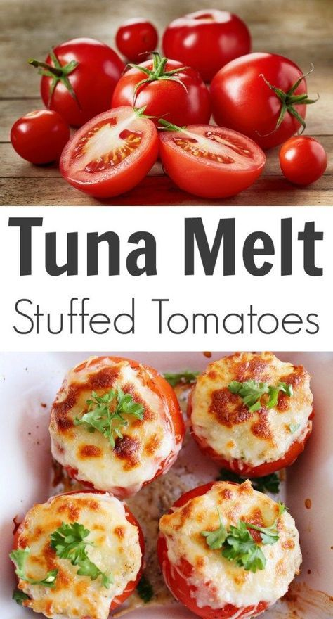 Tuna Melt Stuffed Tomatoes