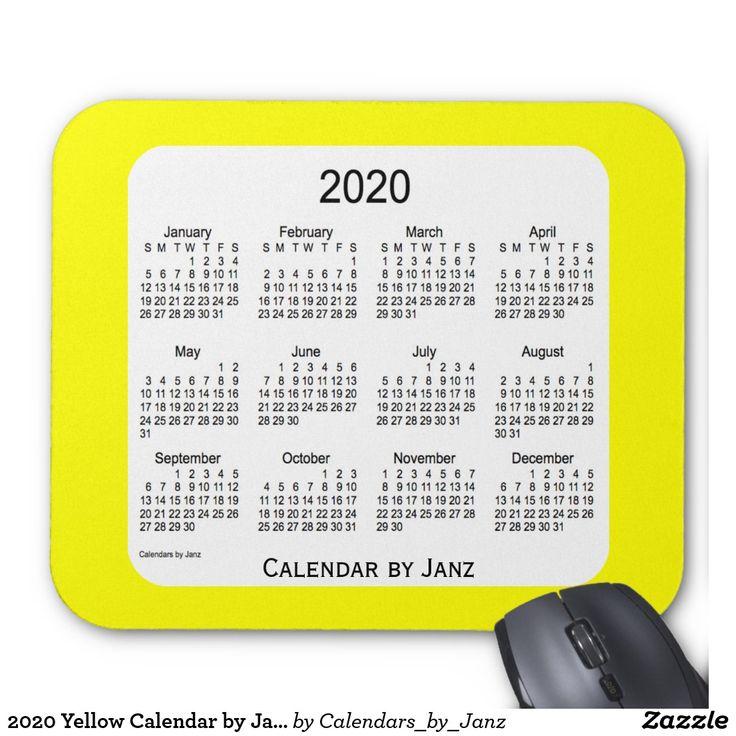2020 Yellow Calendar by Janz Mousepad