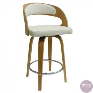 Sitting Pretty Furniture   Gatsby Swivel Stool   Oak/White