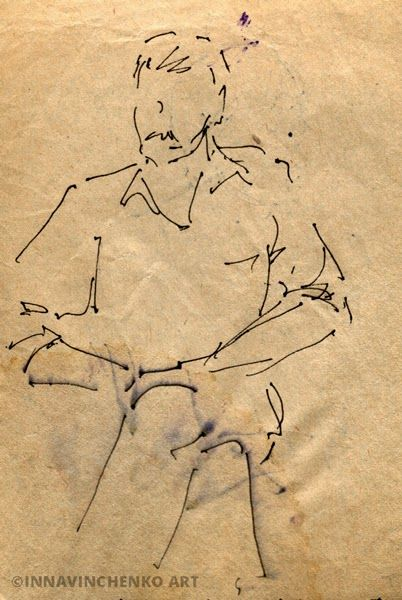 #Figure of my father http://vinchenko.blogspot.com/2014/08/when-started-my-love-for-sketching.html