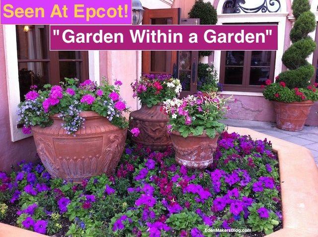 container gardening ideas pictures | Garden Design Ideas: Epcot Flower and Garden Festival | Eden Makers ...