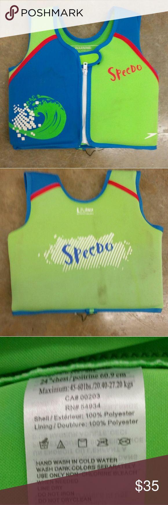 Speedo Neoprene Life Jacket Child Size  45-60 lbs Speedo Neoprene Life Jacket Child Size  45-60 lbs Speedo Swim