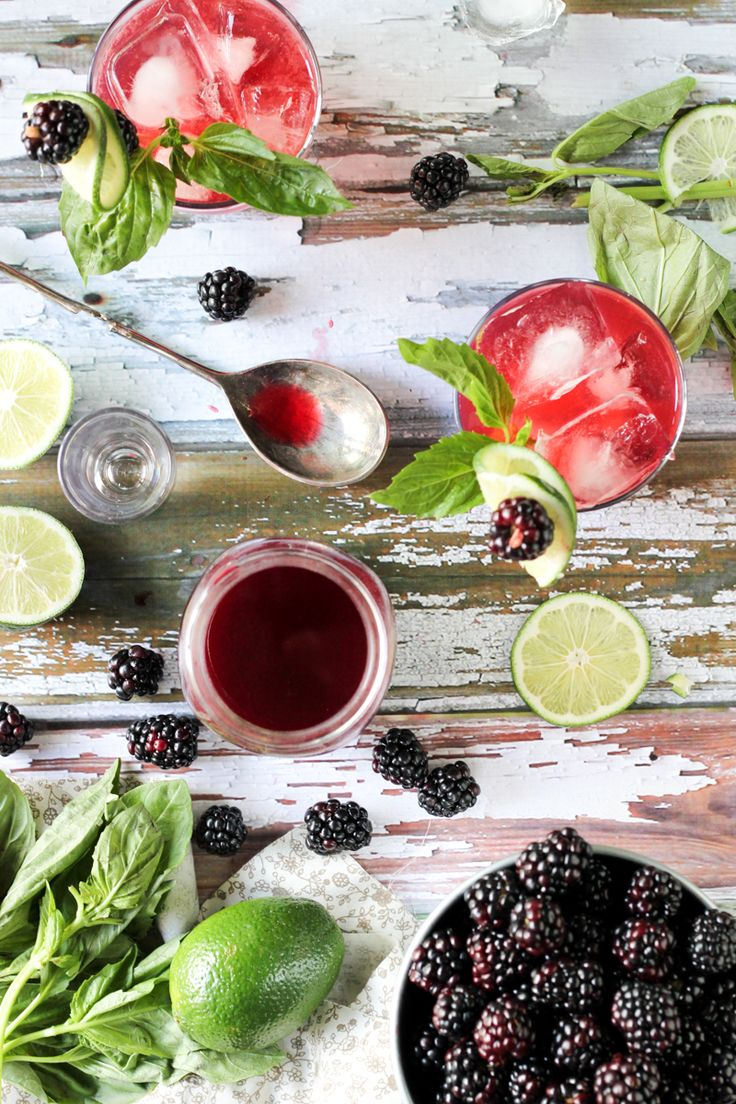 #DrinkTheSummer | Lime Blackberry Shrub Drinking Vinegar | Summer Cocktail - She Eats
