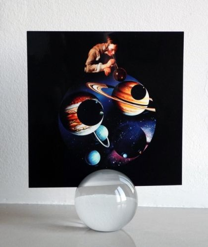 Giulio Paolini, Belvedere, fotografia e sfera di vetro di Murano, 16,5 X 16,5 e D6, es. 11/50