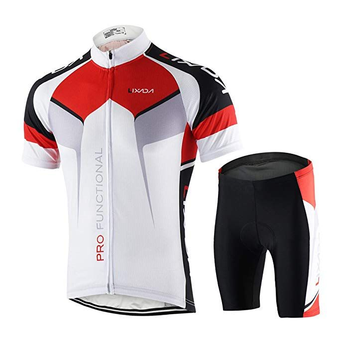 Lixada Men S Cycling Jersey Set Bicycle Short Sleeve Set Quick Dry