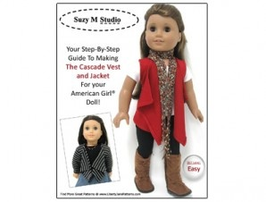 Cascade Vest and Jacket Pattern for American Girl® Dolls | Liberty Jane Doll Clothes Patterns For American Girl Dolls