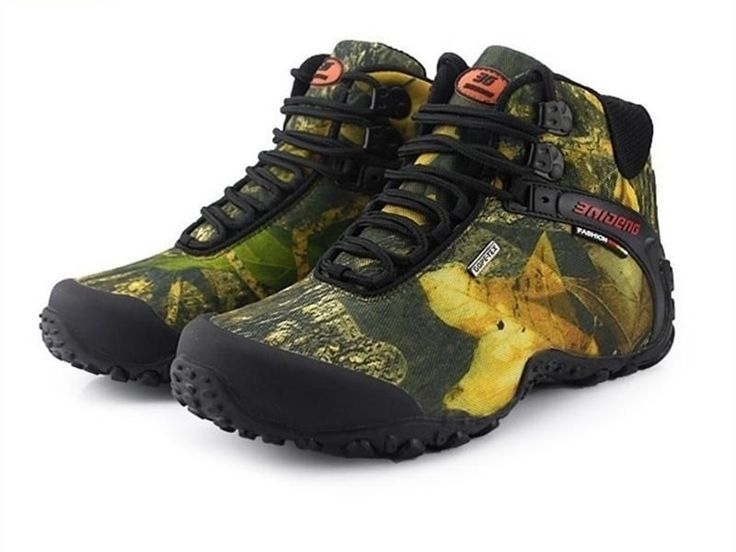 Waterproof Canvas Hiking Shoes Boots Anti-skid Wear Resistant Breathable Fishing Shoes Climbing Shoes #climbingshoes