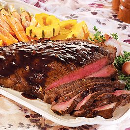 Bourbon Soy Marinated London Broil Recipes — Dishmaps