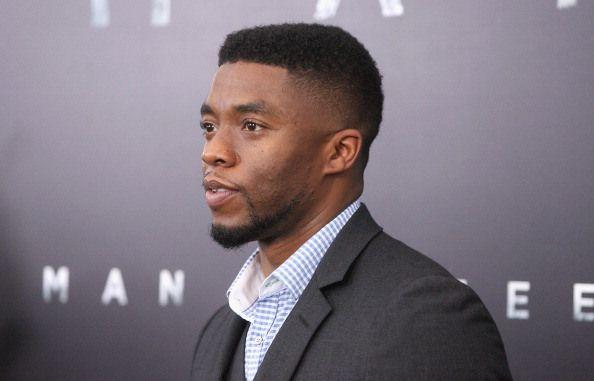 Chadwick Boseman black fade haircut