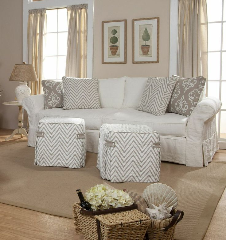 Casual appeal and a softness like no other, decorating with slipcovers is a great way to protect and recreate your furniture. The possibilities are endless. We have you covered!