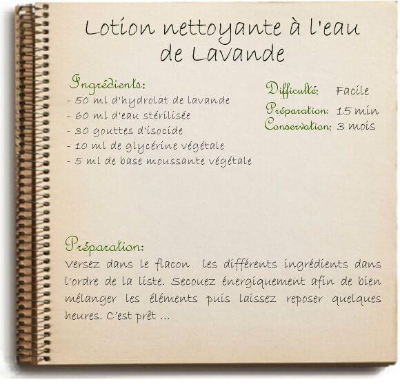 Recette de lotion nettoyante et tonique maison: l'hydrolat de lavande