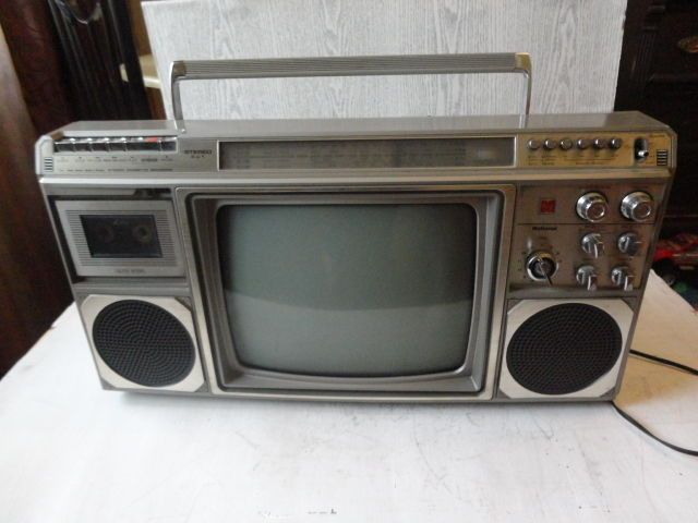 vintage boombox ghetto blaster national 3 in 1 stereo. Black Bedroom Furniture Sets. Home Design Ideas