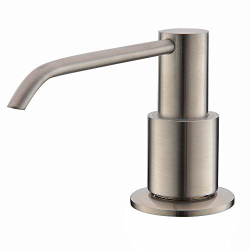 2016 New Wholesale Modern Solid Brass Brushed Nickle Kitchen Sink Countertop Liquid Dish Hand Soap Dispenser Pump Replacement