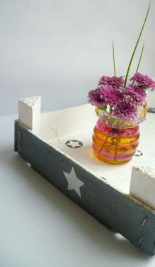 Obstkisten-Upcycling mit Farbe und Sternen DIY vonKarin