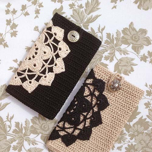 Even without a pattern, these crochet phone covers will be easy to make – then just add any flat doily onto the side for a nice detail. For full post click here. By: Anabelia Craft Design (Visited 33 times, 4 visits today)