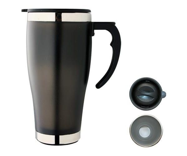 TRAVEL MUGS – M22  Price includes 1 color, 1 position print   2 Color imprint available for an additional charge  Decoration option: Pad print, Screen print, Heat transfer  Printing Size: 40mm x 40 mm  Engraving Size: 20mm x 6 mm