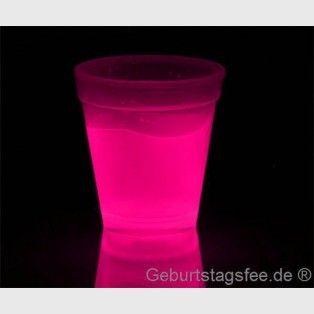 Knicklicht-Becher, Farbe Pink, zur Knicklicht-Party