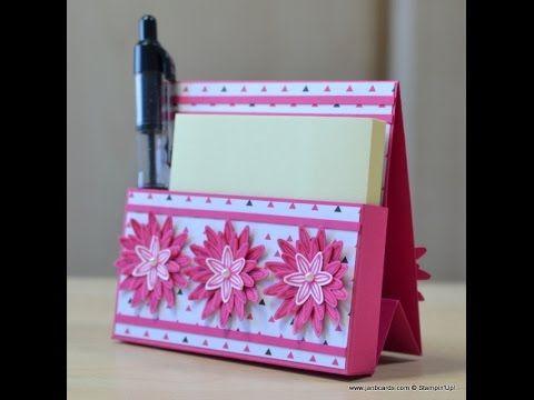 JanB Handmade Cards Atelier: Freestanding Post-It Note Holder Video