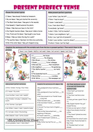 Ws on practising the present perfect tense! Have a nice week!:) - ESL worksheets
