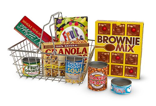 Melissa and Doug Grocery Basket with Play Food Playset Giveaway!