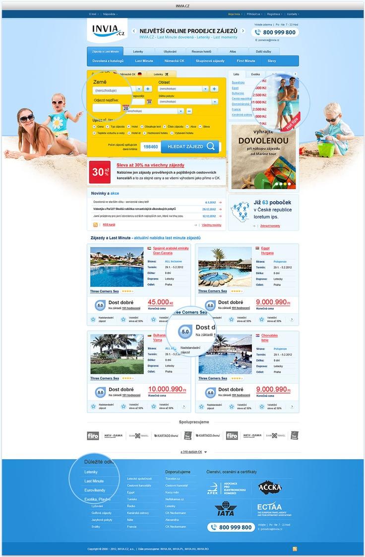 INVIA.CZ - user interface design - Web - Screens