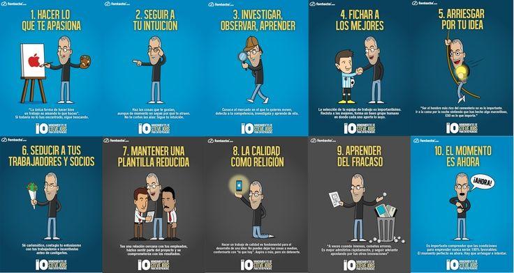 Los 10 mandamientos de Steve Jobs para emprendedores…