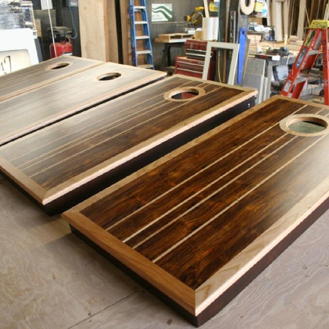 Custom Exotic Wood Corn Hole Anyone Design