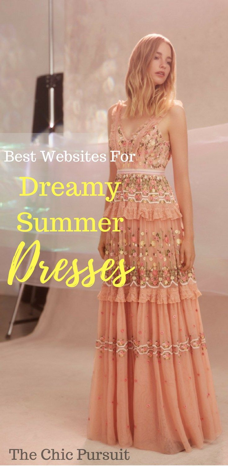 fee69ead2e Best websites for summer dresses & ruffle dresses like Needle & Thread /  casual boho dresses for women & cute wedding guest dresses and other  special ...