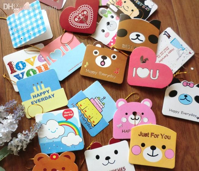 Wholesale Cute Cartoon Love Heart Animal Mini Greeting Card For Children'S  Day Birthday Gift Cute Design Message CardAkl 082 Buy And Sell Gift Cards  Gift Card Purchase Online From Spain, $20.2  Dhgate.Com