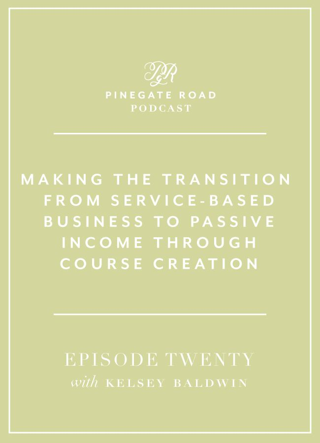 Are you looking to create more passive income in your business? Kelsey Baldwin of Paper + Oats built up her business from a design studio to a product shop and now she sells courses full-time. In this episode we talk about why she decided to start building courses, and how she differentiates herself in the market. She's also a single mom raising her daughter by herself while doing all of this, so we got into that as well. If you have a family, are looking to start a family, want to learn