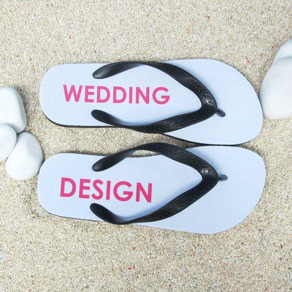 Custom wedding flip flops ivory bulk flip flops by PrinterStudio, $10.99
