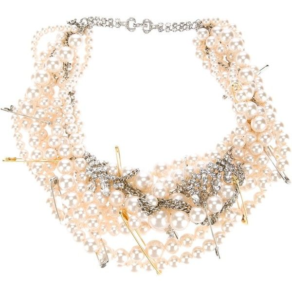 TOM BINNS pearl and crystal necklace (5.760 HRK) ❤ liked on Polyvore featuring jewelry, necklaces, pearl necklace, pearl jewelry, crystal stone necklace, tom binns and tom binns necklace